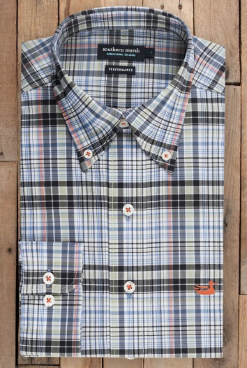 Southern Marsh Hays Performance Check Button Down