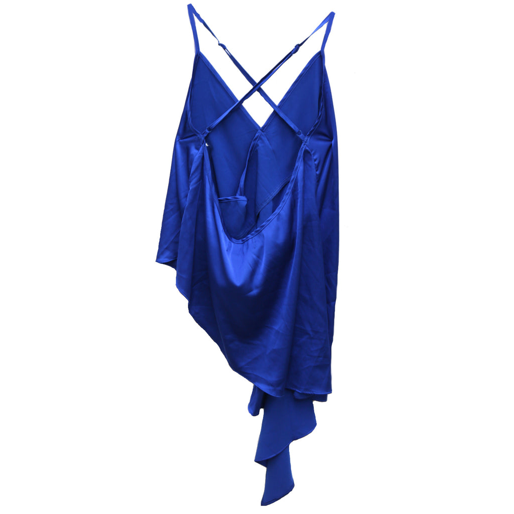 Sassy In Silk Top - Y17380-BLU
