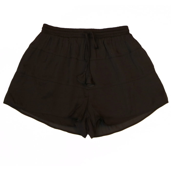 Soft as Satin Shorts- SP110850-BLK