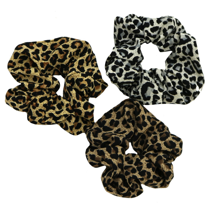 Leopard Hair Scrunchie Set- FAME-SCRUNCHIE