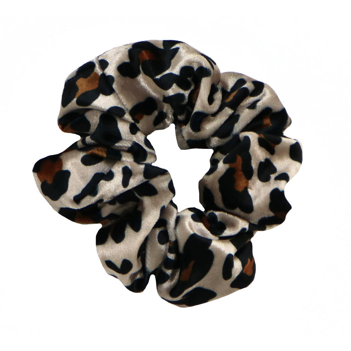 Velvet Leopard Hair Scrunchie