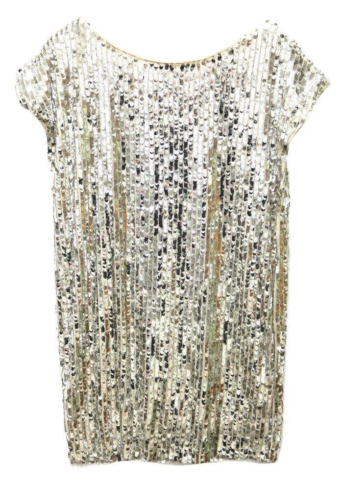 Shine All Night Dress- Silver/ Natural- SD19588