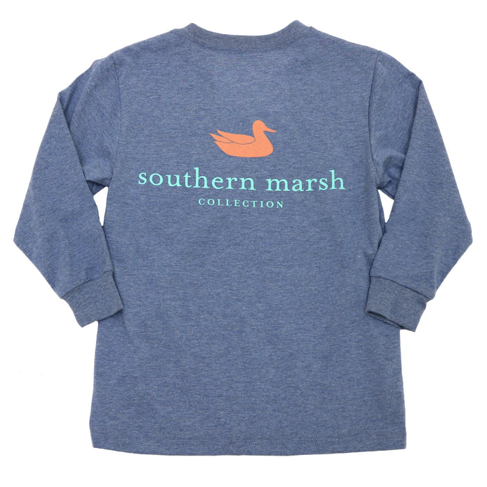 Southern Marsh Youth Authentic Youth L/S Tee- Washed Slate- YAUL-WSL