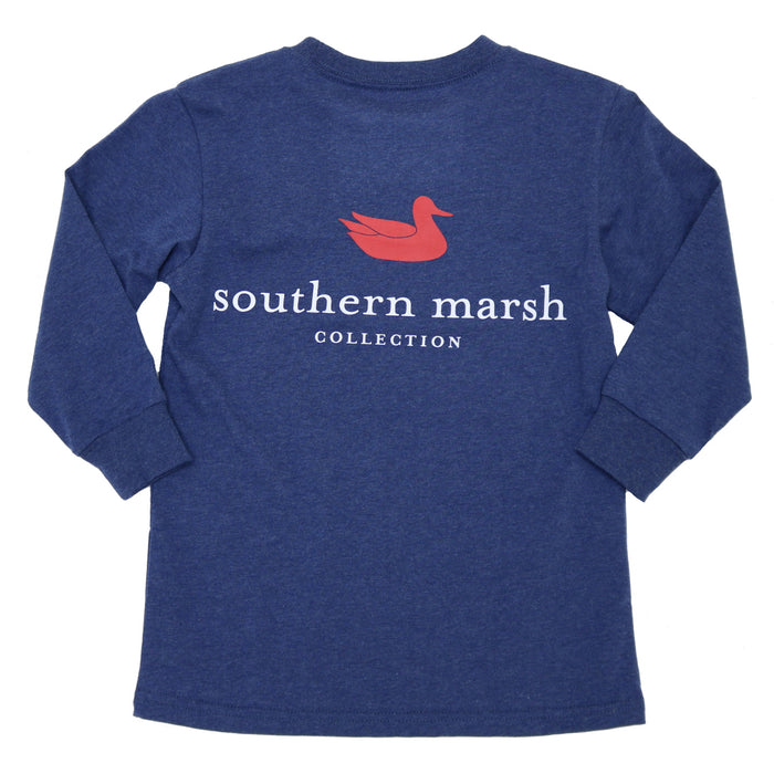 Southern Marsh Youth Authentic L/S Tee- Washed Navy- YAUL-WNV