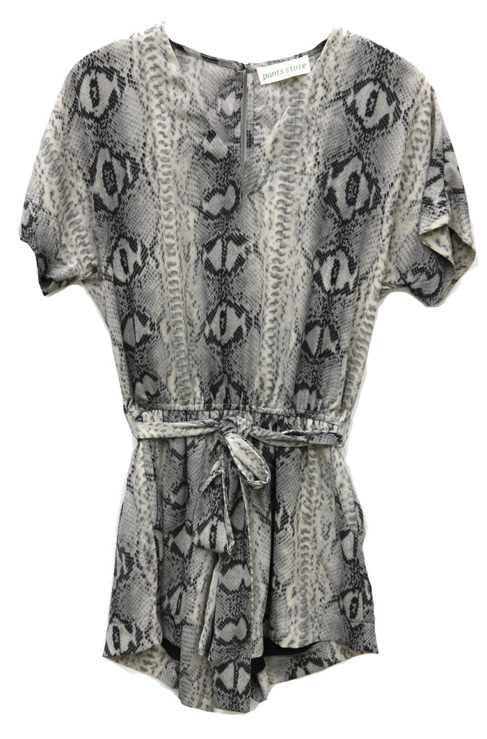 Snake Ya Around Romper- Grey- CR5156-1