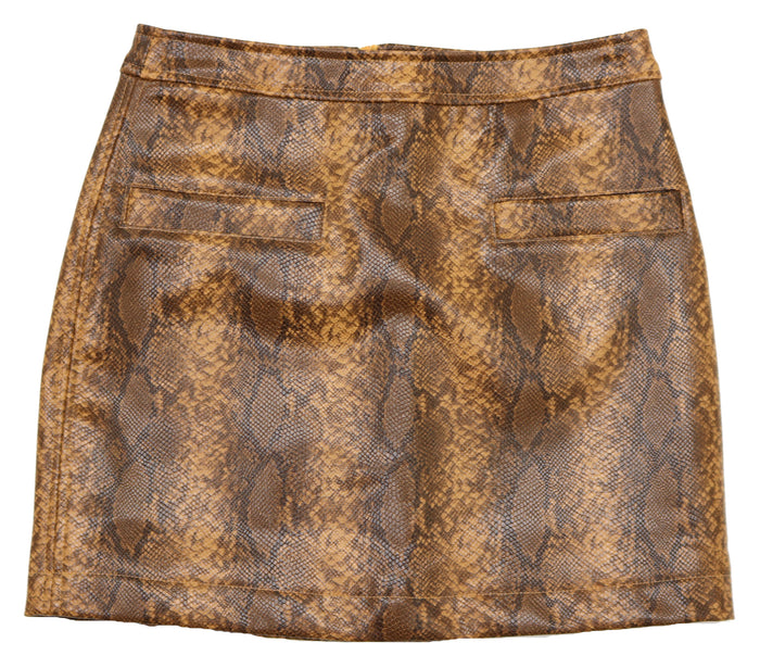 Snake It Or Leave It Skirt- HISK530M