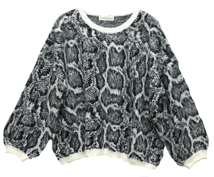 Pretty In Python Sweater- Off White- SS2651