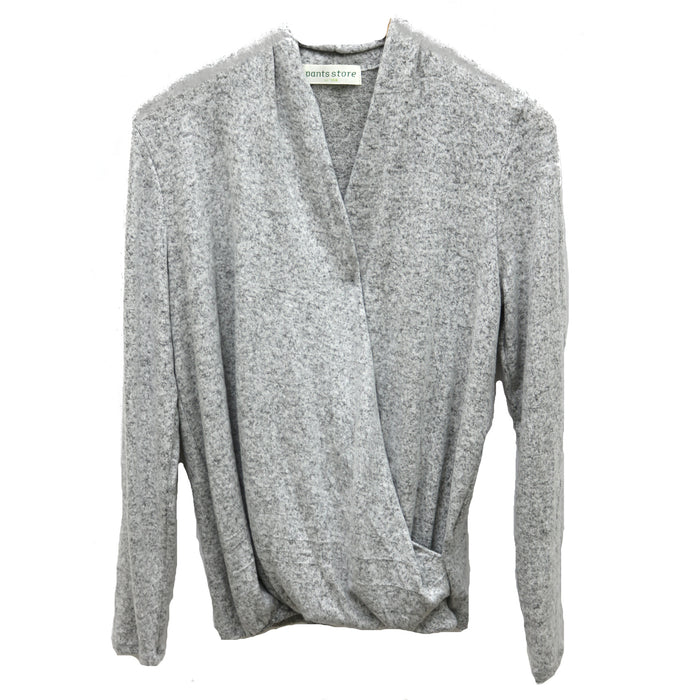 Wrap Me In Your Love Sweater- Grey- PAP BR27315