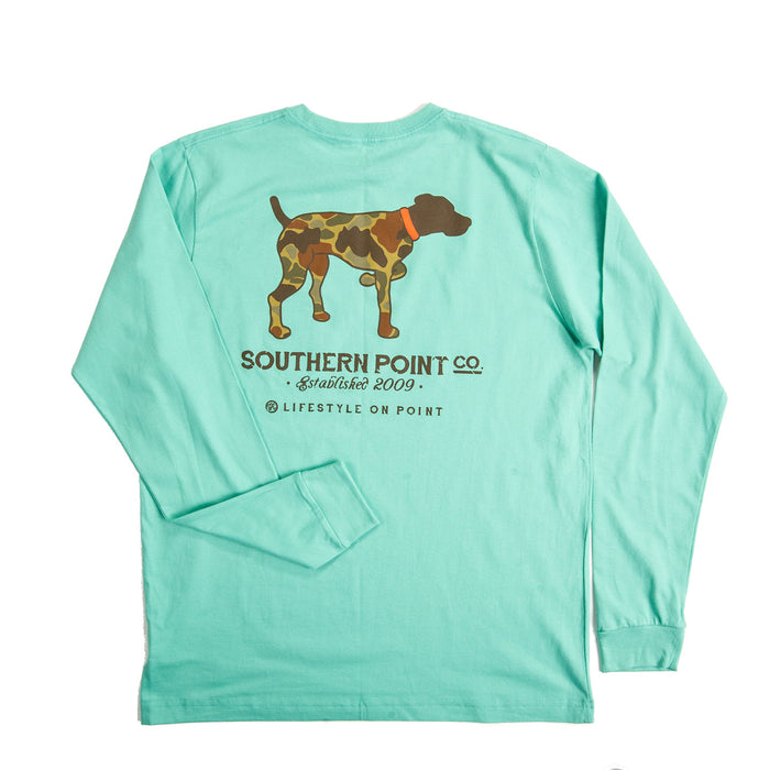 Southern Point Camo Dog L/S Tee - SLT-376