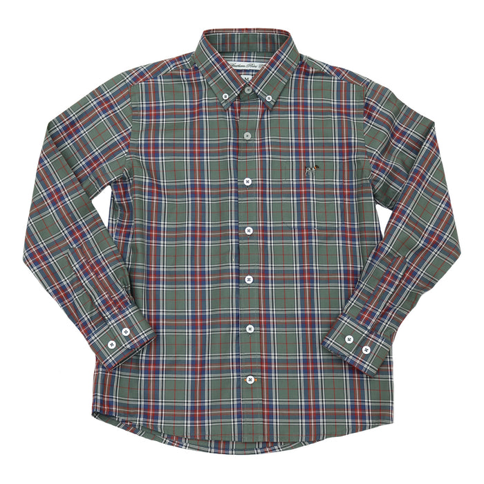 Youth Southern Point Hadley Shirt- Spruce- SPC-288
