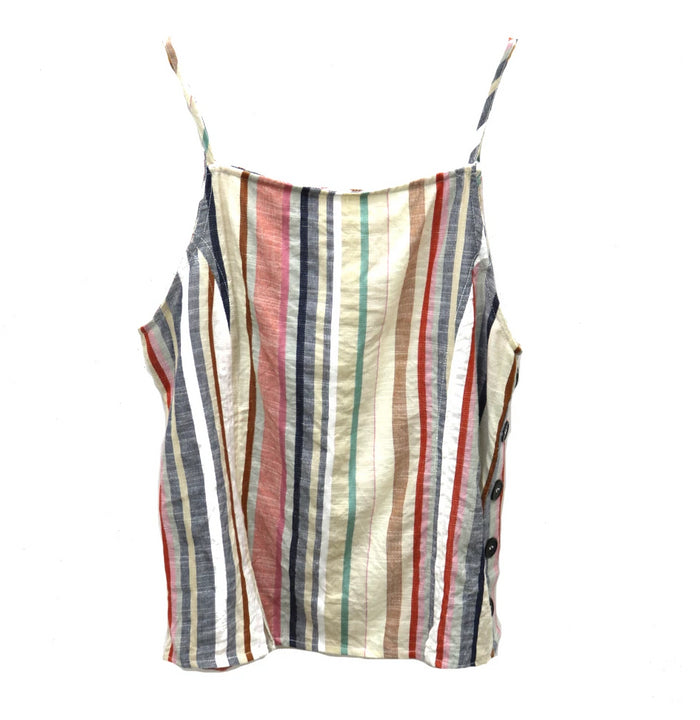 Stripe It Up Tank- Rust- AA315554-RUS