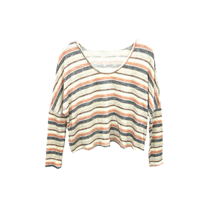 Seeing Stripes Sweater- AA321602-TAN