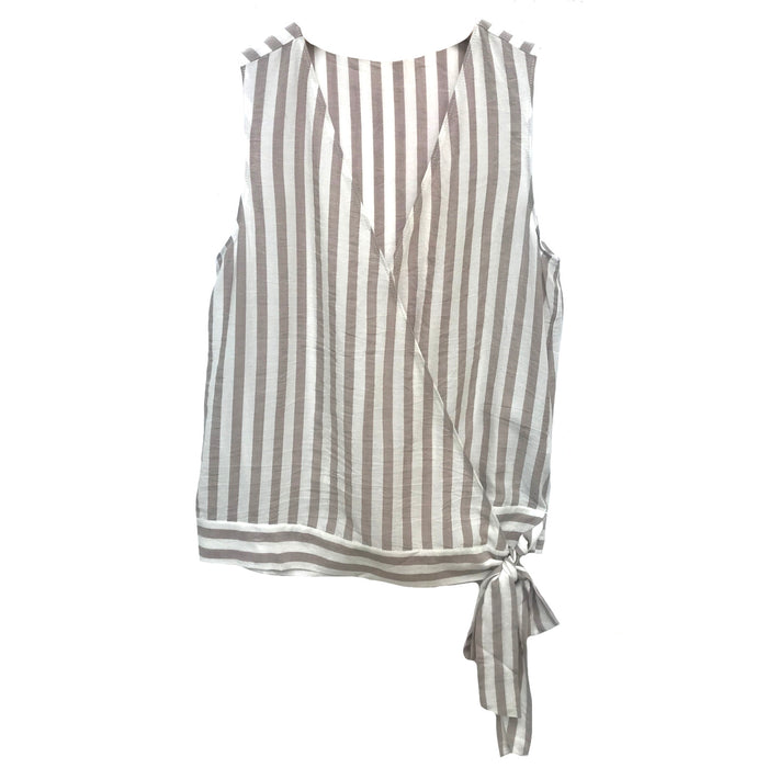 Wrapped In Stripes- Taupe- VT113307-TAU