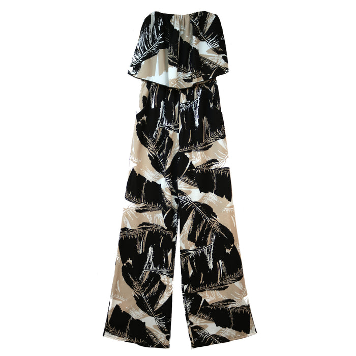 Tropical Excursion Jumpsuit- JP-3718-BLK