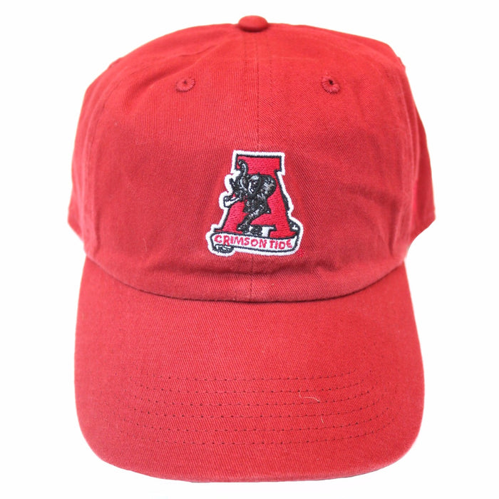 Alabama Hat with Retro Logo- Crimson