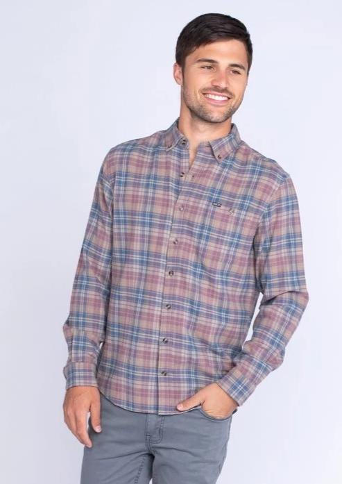Southern Shirt Company Townson Flannel- Windsor- TOWNSON FLANNEL L/S-WIN