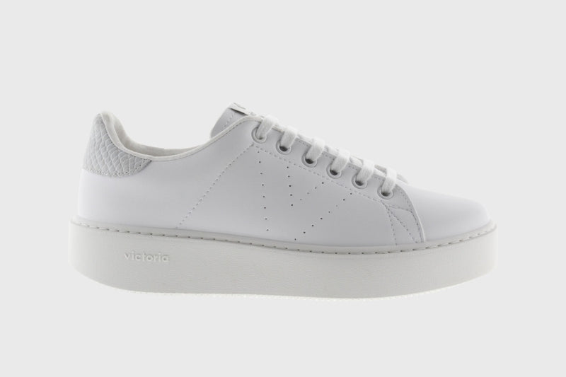 Victoria Leather Solid White Sneaker - 1260133
