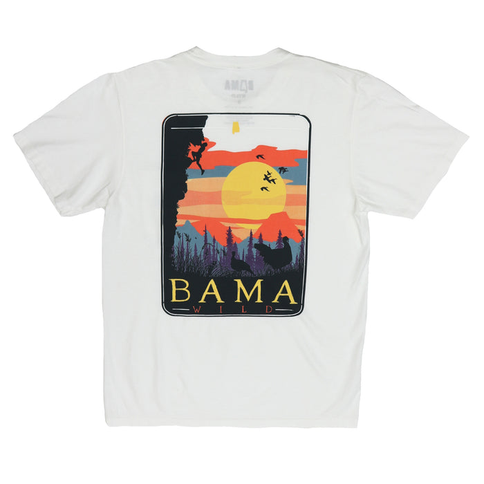 Bama Wild Sunset Tee- White
