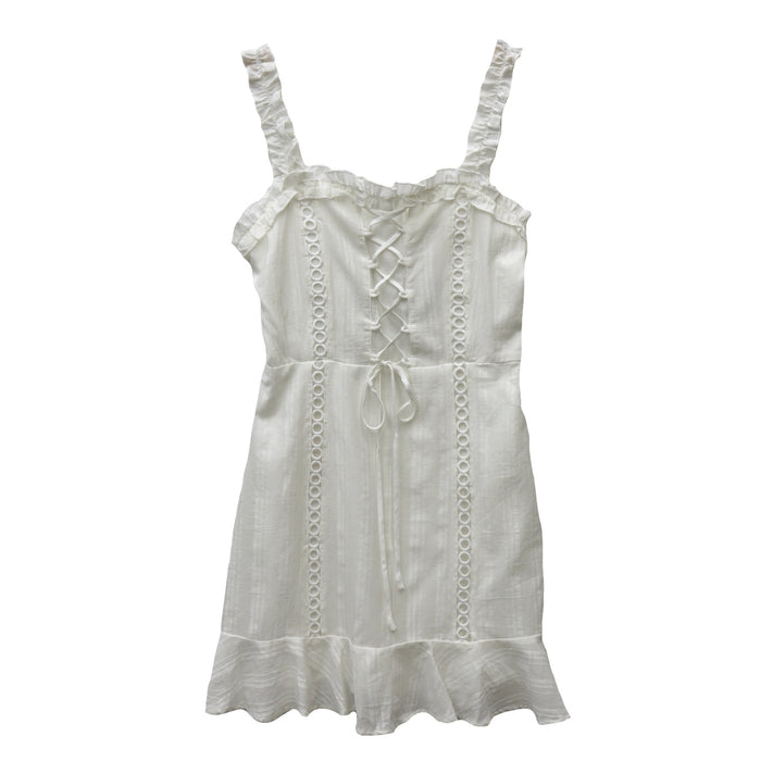 Summer Breeze Dress- Off White- IBD95131-OWHT