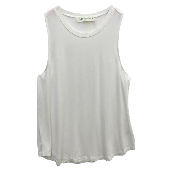 Back To Basics Crew Tank- Off White  - DZ19F264-OWHT