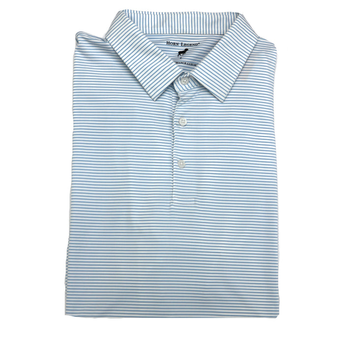 Horn Legend Stripe Polo 1031- White/Powder Blue- HL1031TBP-WHT/P.BLU