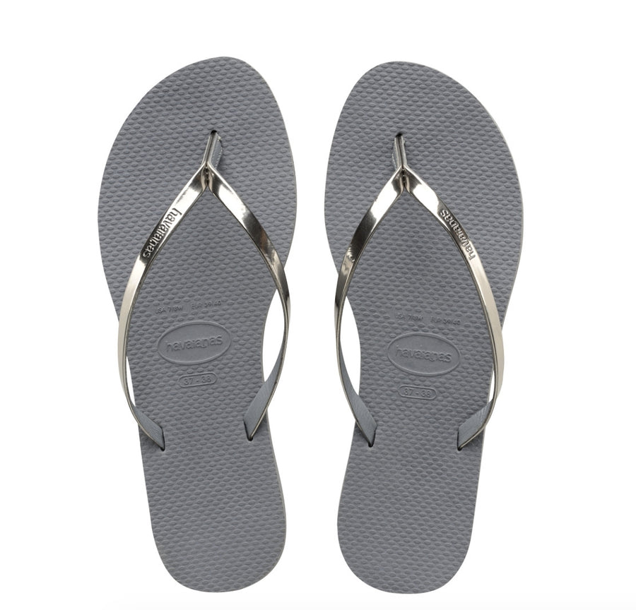 Havaianas You Metallic Sandal- Steel Grey