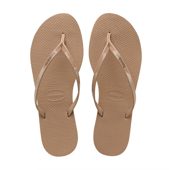 Havaianas You Metallic Sandal- Rose Gold