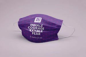Inhale Courage, Exhale Fear mask