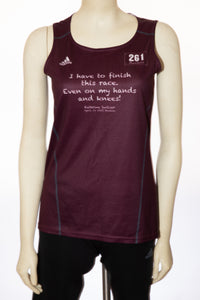 Fearless Finisher Singlet in Burgundy - size small