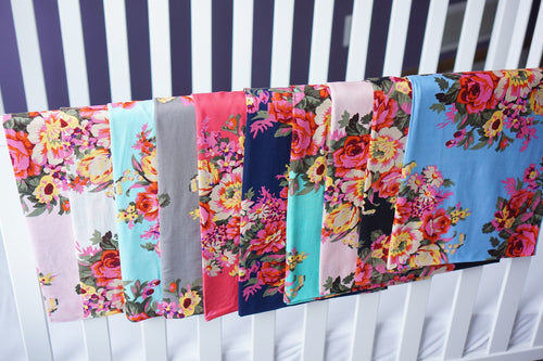 Large Print Floral Swaddle