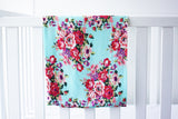 Small Print Floral Swaddle