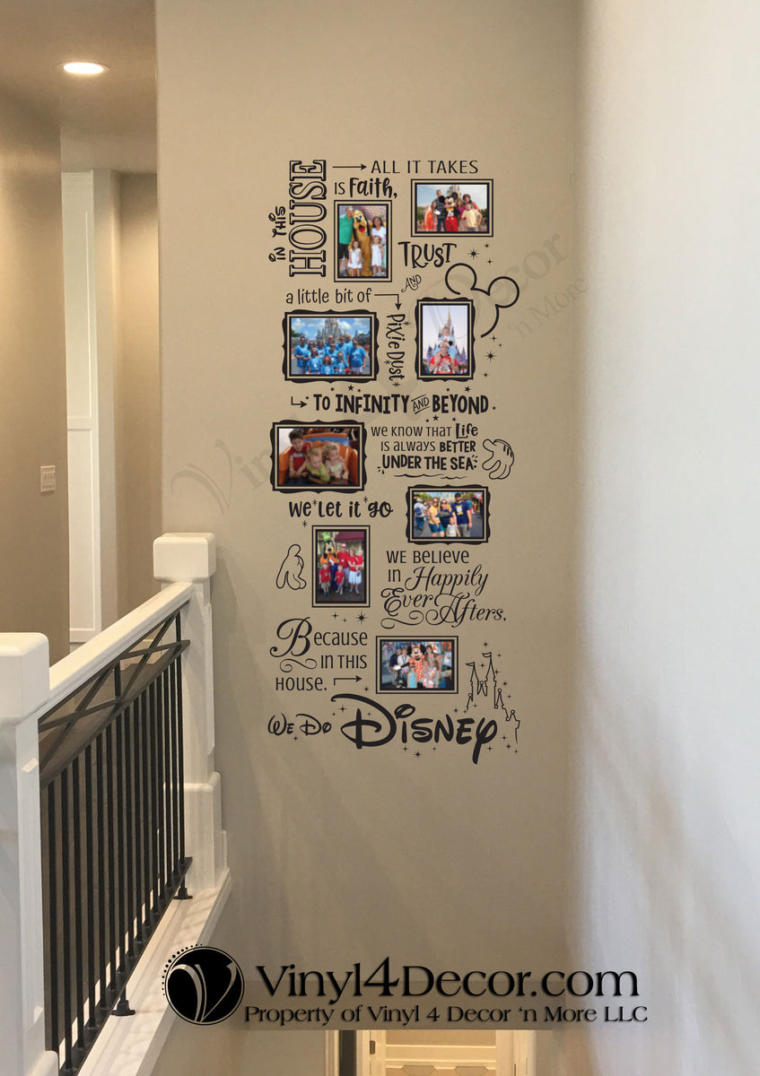 Bc838 In This House We Do Disney Photo Collage
