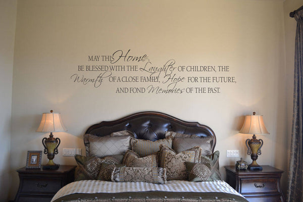 May This Home Be Blessed With The Laughter Vinyl Lettering Wall Words Stickers Home Decor Vinyl Decor En006