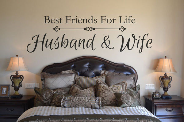 Master Bedroom - Husband and Wife - Best Friends are we - Wall Decal -  Bedroom Decor - Vinyl Lettering BC851