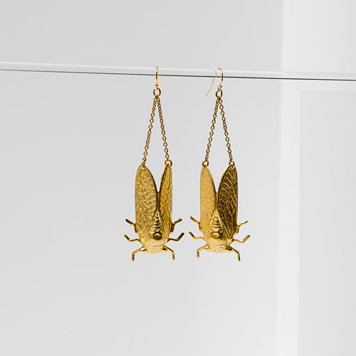L. Loden Jewelry - Cicada Earrings - Brass