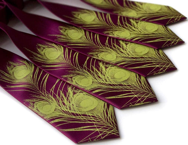 Cyberoptix Tie Lab - Peacock Feather Silk Necktie