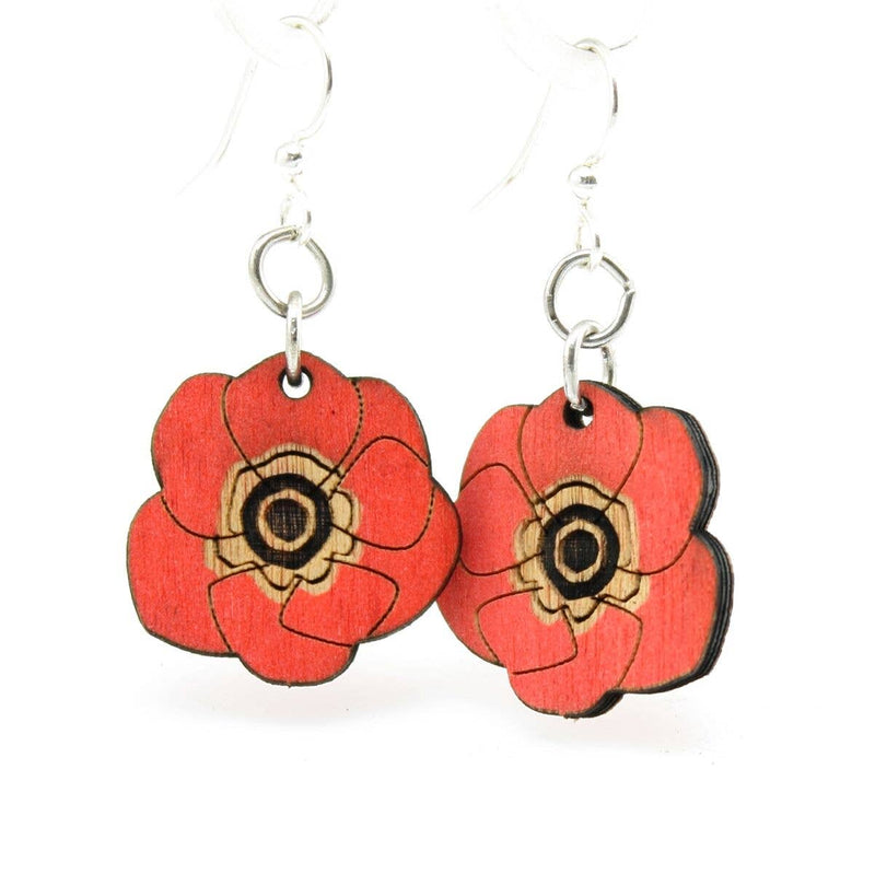 Green Tree Jewelry - Poppy Flower Blossoms Earrings
