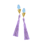 The Sleepy Cottage - Lavender Holly Golightly Tassel Earplugs