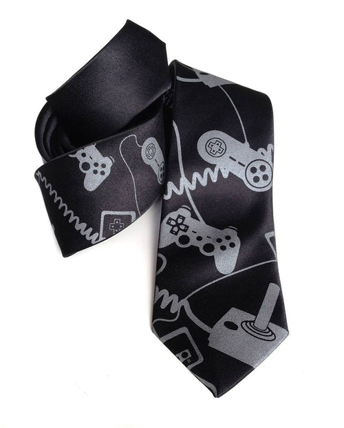 Cyberoptix Tie Lab - Video Game Controllers Necktie. Control Freak tie