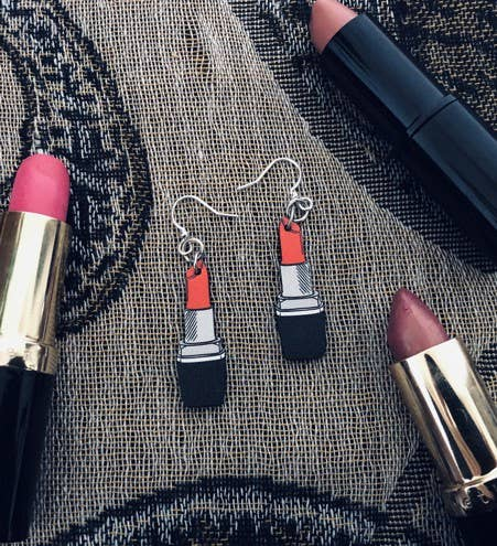 Green Tree Jewelry - Lipstick Earrings