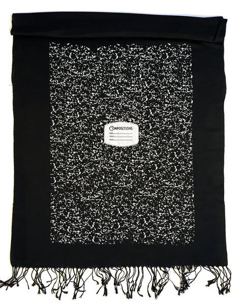 Cyberoptix Tie Lab - Composition Book Scarf