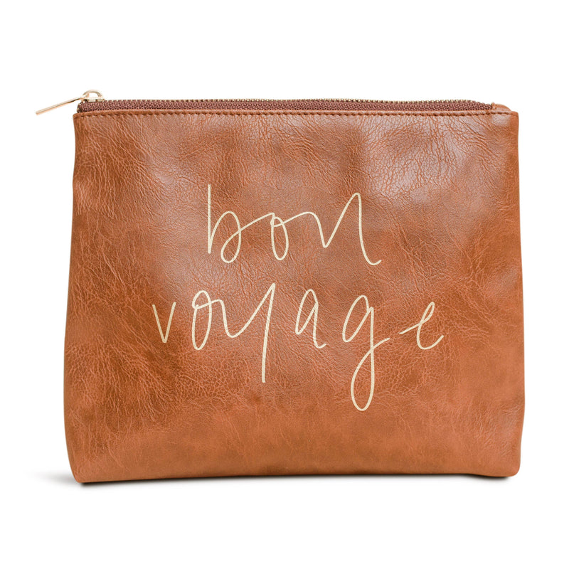 Sweet Water Decor - Bon Voyage Faux Leather Makeup Bag