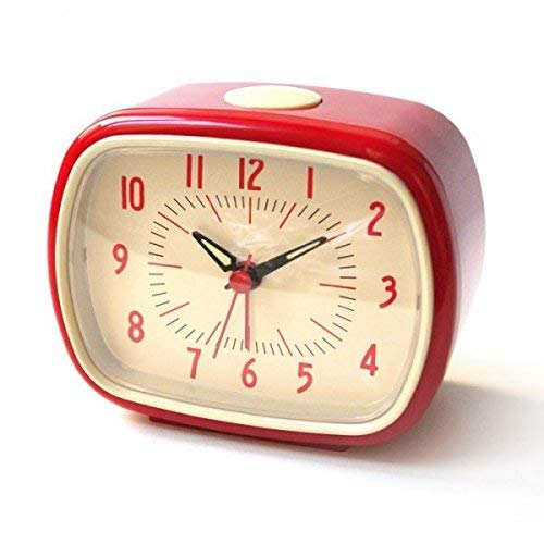 Retro Alarm Clock in Red