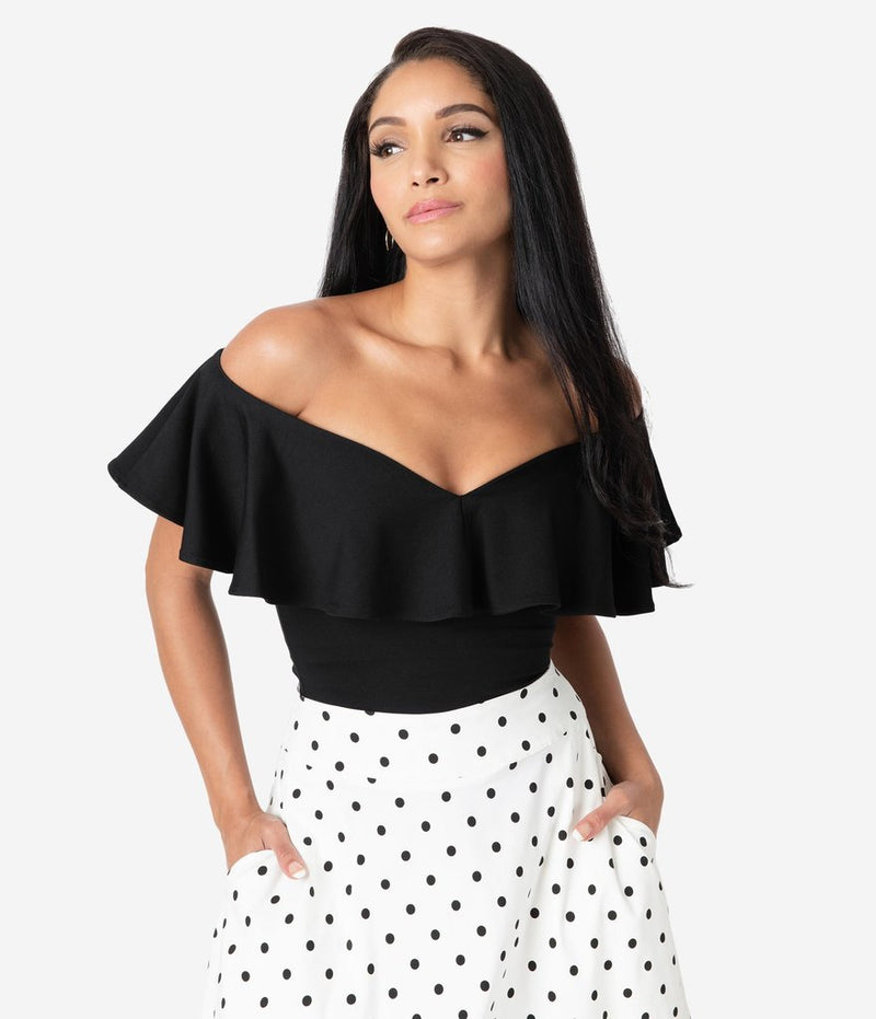 Frenchie top in black