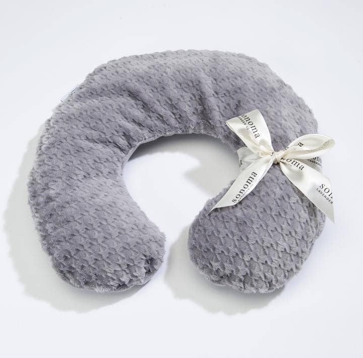 Sonoma Lavender - Neck Pillow - Lavender Silver Houndstooth