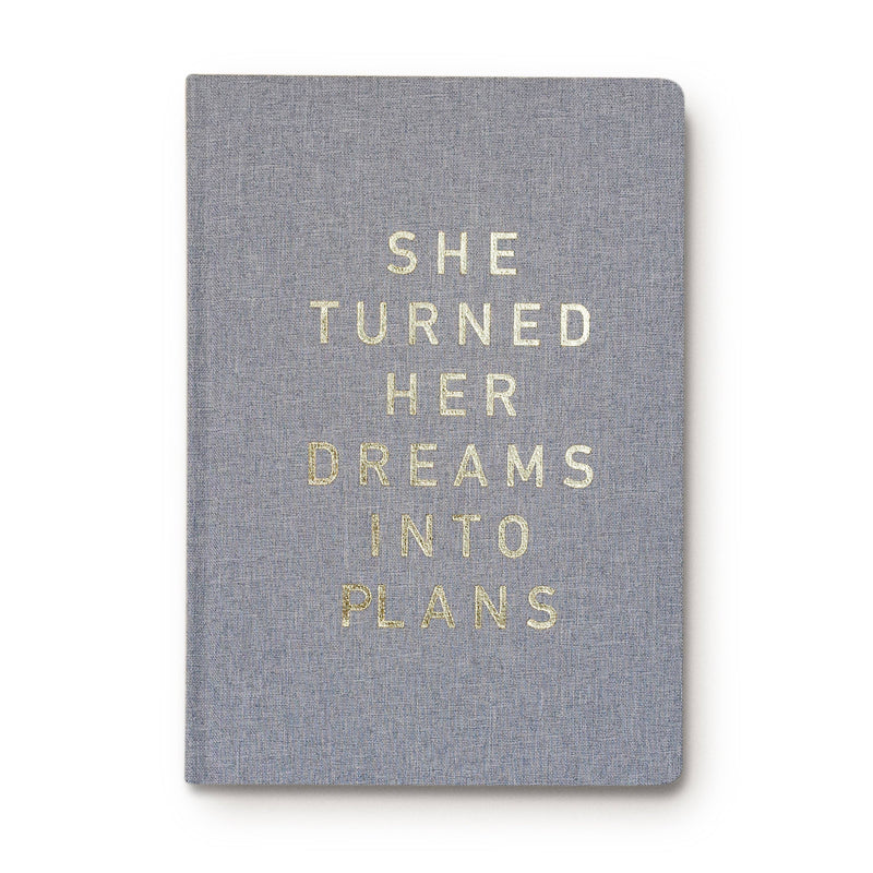 Sweet Water Decor - She Turned Her Dreams Into Plans Journal Fabric Journal