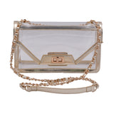 Policy Handbags - Clear Envelope Bag- Mama