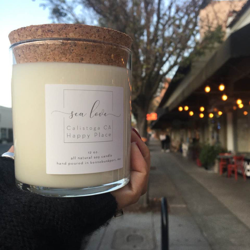 Made in the USA Soy Candles - Happy Place Calistoga (Magnolia + Honey)