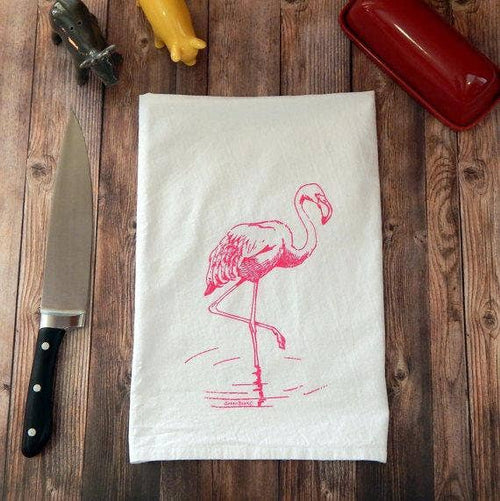 Green Bee Tea Towels - Flamingo Flour Sack Tea Towel