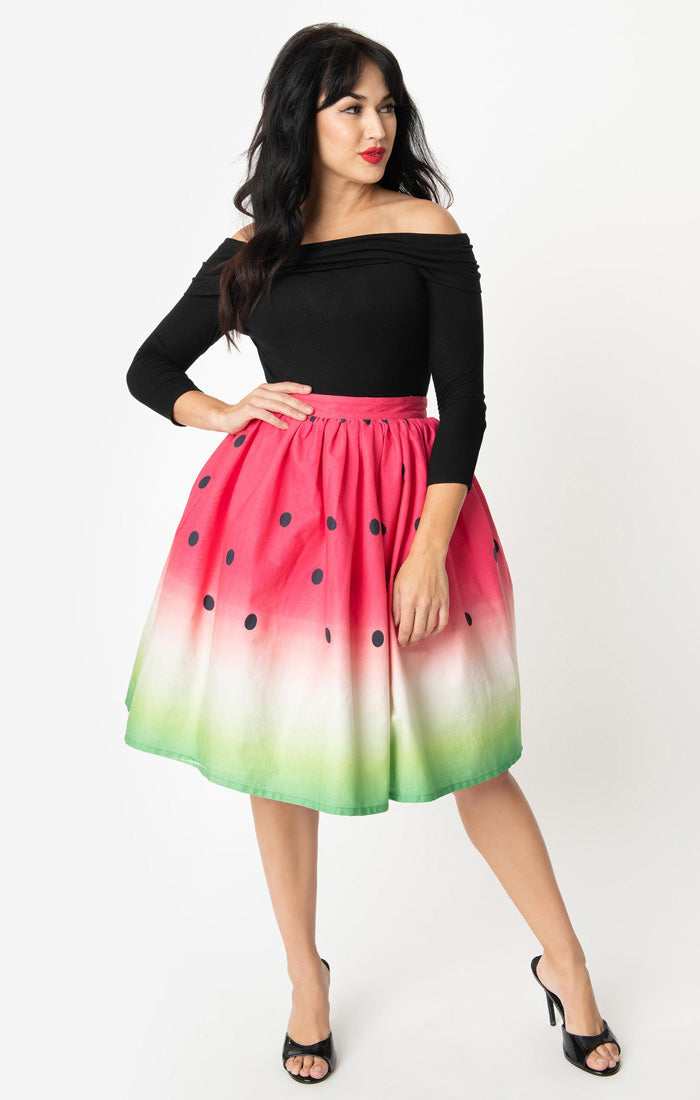 Delicious Watermelon Swing Skirt